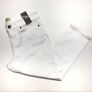 J.JILL Petite White Crop Capri Pants